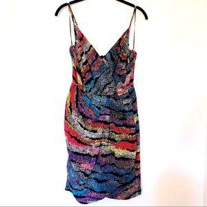 Yumi Kim Jayne Tulip Silk Multicolor Printed Dress